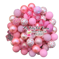 Light Pink Themed Chunky Bubble Gum Bead Lot *Read Entire Product Description Before Purchase