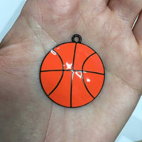 P64 Basketball - Chunky Bubblegum Bead Necklace Pendant Focal Piece