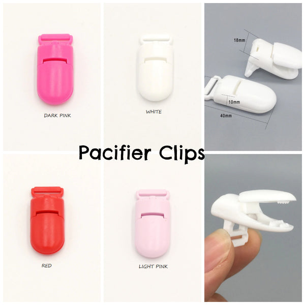 40mm Pacifier {2 Count} Adapter Clip for Teething/Sensory Necklaces *Choose Color