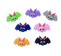 (SP140) Bats 38mm x 24mm Silicone BPA Free Teething/Sensory Pendant Teether *Choose Color