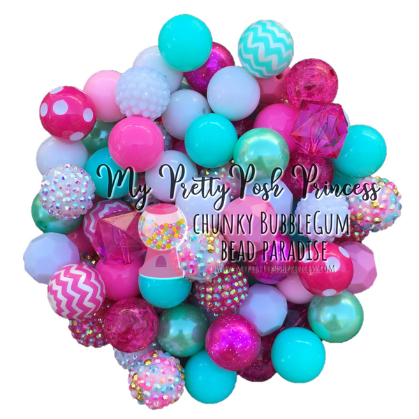 """Day Dreams"" Chunky Bubble Gum Bead Themed Bead Lot **Read Item description before purchase!"