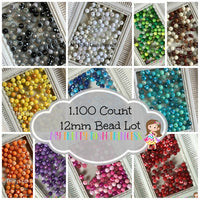 12/20mm The Ultimate  1,100 Count (Or 1/2 Lot Option)  Themed Chunky Bubble Gum Bead Lot *Read Entire Product Description Before Purchase
