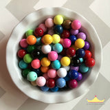 20mm Chunky Bubble Gum Solid Mixed Wholesale Bulk Bag 100-105 Count Beads