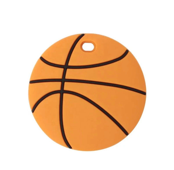 SP231 Basketball Silicone Teething Ring  BPA Free Teething/Sensory Pendant Teether