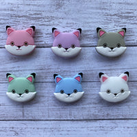 X22- Cat Silicone Focal Bead BPA Free Teething/Sensory Pendant Teether *Choose Color