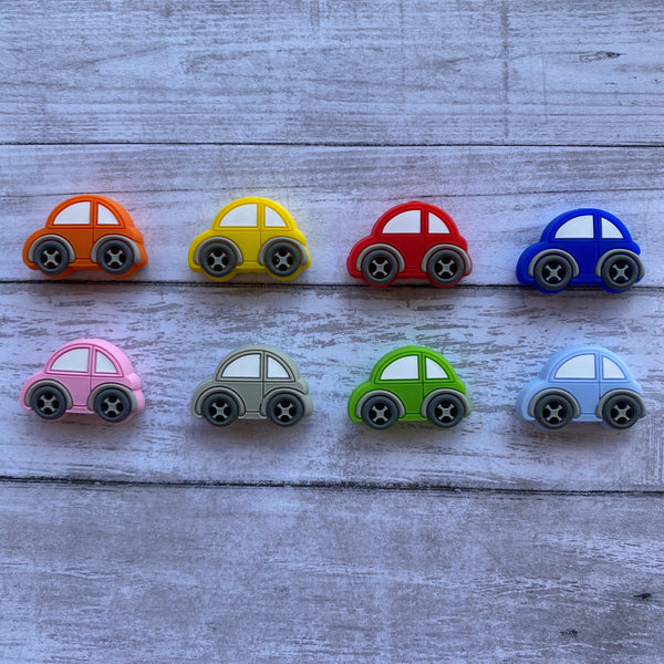 X15- Car Silicone Focal Bead BPA Free Teething/Sensory Pendant Teether *Choose Color