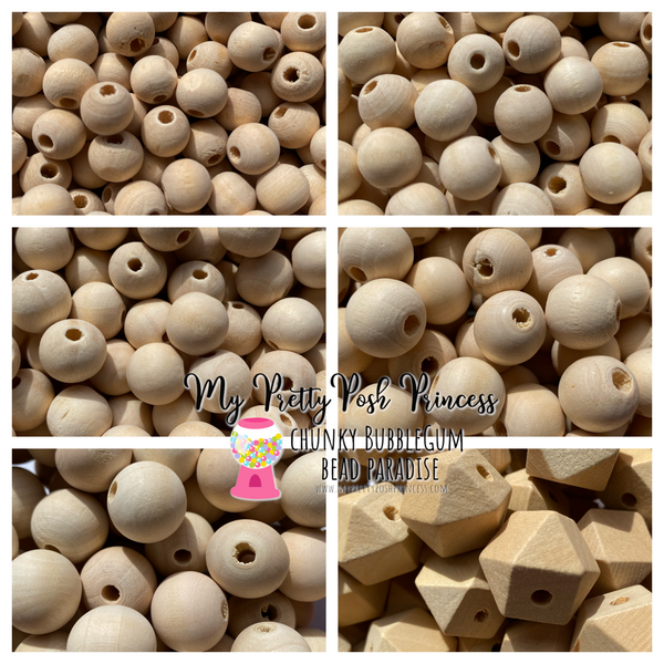 Natural Wood 10mm-20mm Beads