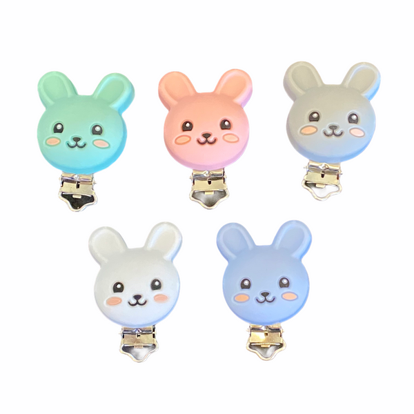 Bunny Silicone Clip for Teething/Sensory Necklaces