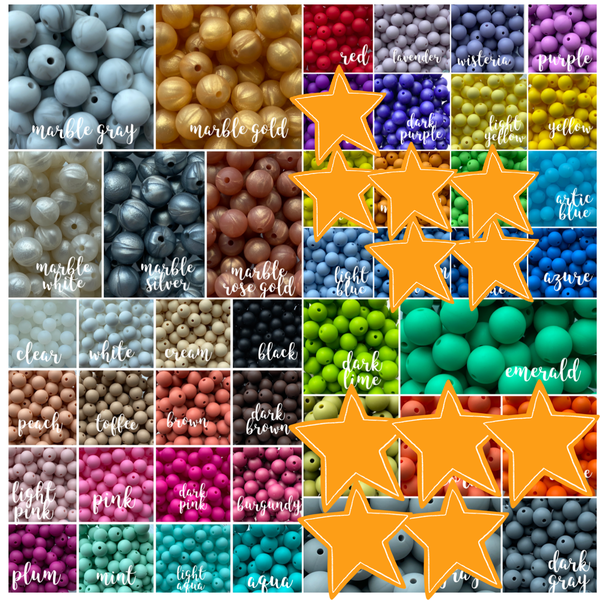 "19mm ""Round"" Silicone Teething Beads, 100% Food Grade Silicone, BPA Free, Sensory Beads, Loose Beads *Choose Color/Quantity"