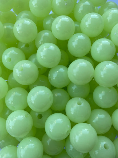 12/16mm Glow in the Dark Chunky Bubblegum Beads for Jewelry Making
