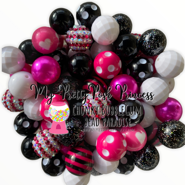 Minnie Inspired Themed Chunky Bubble Gum Bead Lot *Read Entire Product Description Before Purchase