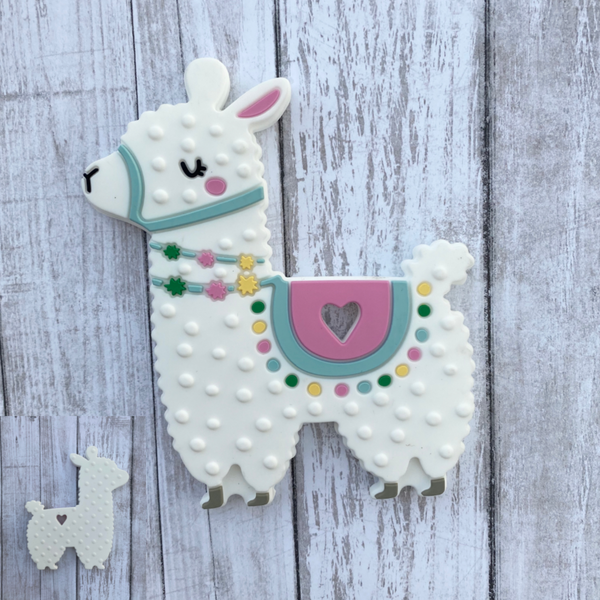 "SP166 ""New Alpaca"" Silicone BPA Free Teething/Sensory Pendant Teether"