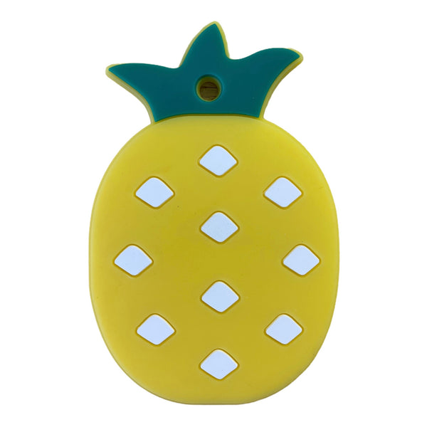 SP19- Pineapple Fruit Silicone BPA Free Teething/Sensory Pendant Teether