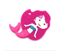 (SP90) Mermaid Silicone BPA Free Teething/Sensory Pendant Teether *More Colors Available