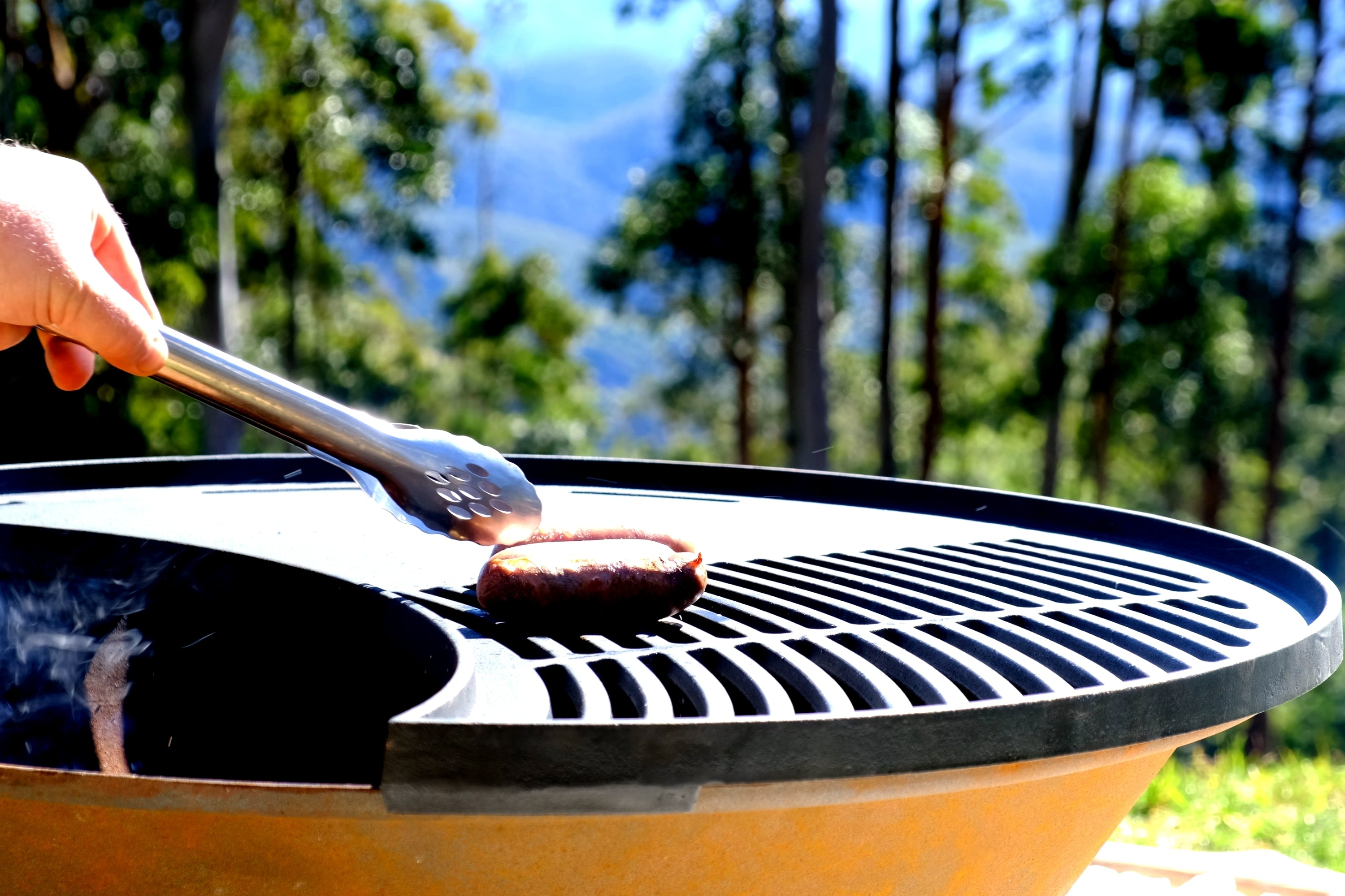 Cooking on The Fire Pit Grill
