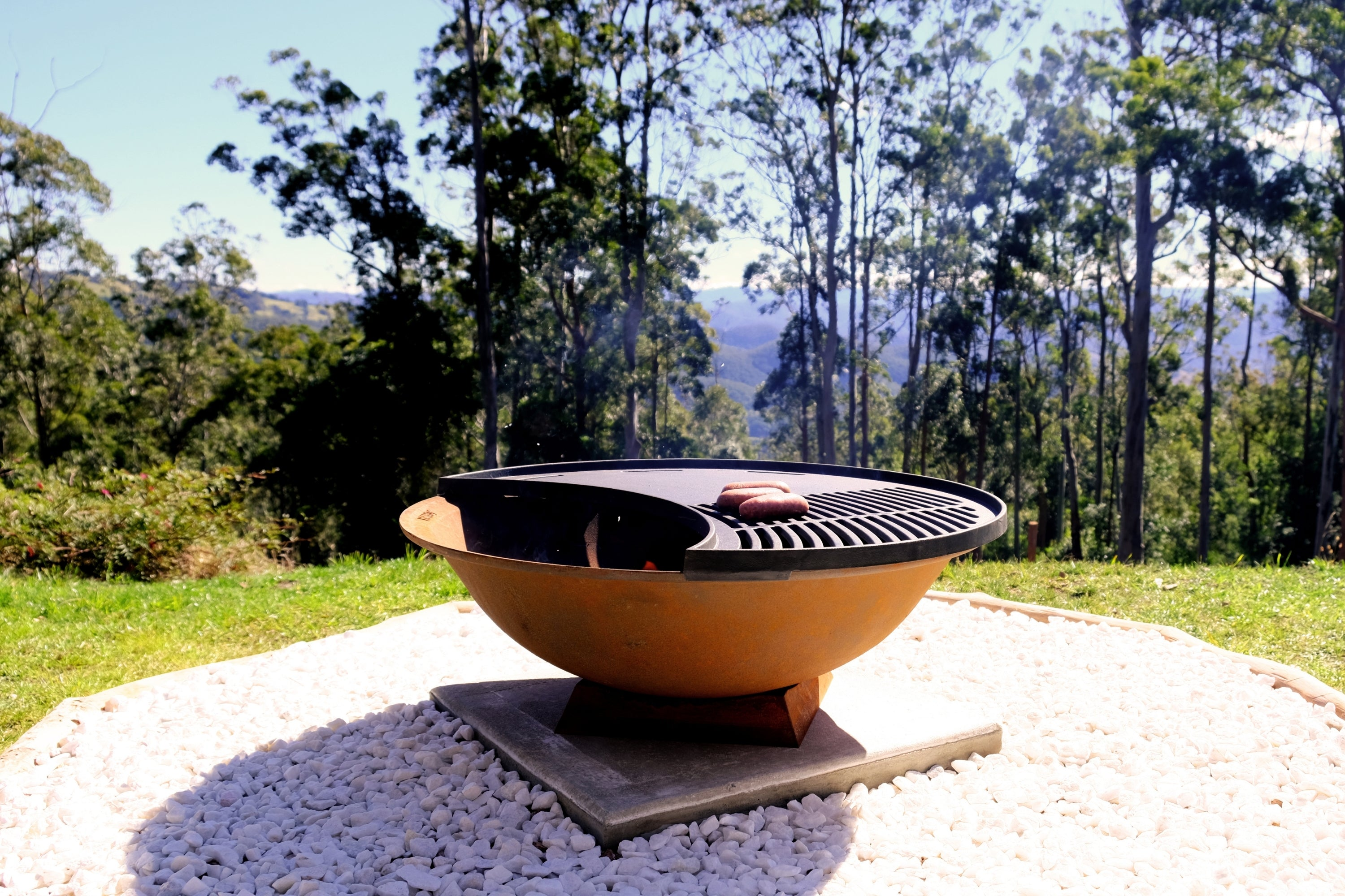 Outdoor Fire Pit BBQ Setting