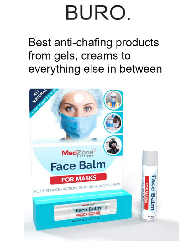 MedZone's Face Balm for Masks Featured on BURO.