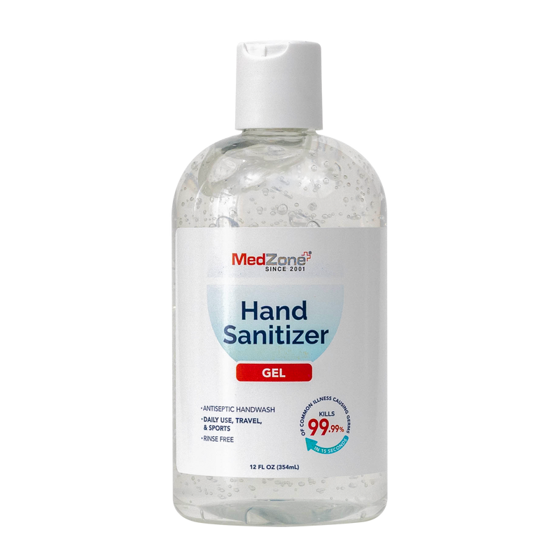 Hand Sanitizer by MedZone Case Pack (10 units) - 12 oz Gel with Disc Cap - MedZone - Because EveryBODY Hurts -Hand Sanitizers, Prevent Blisters, Chafing, Face Mask Irritation