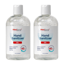 Load image into Gallery viewer, MedZone Hand Sanitizer Gel - 12 oz Disc Cap (2 pack) - MedZone - Because EveryBODY Hurts -Hand Sanitizers, Prevent Blisters, Chafing, Face Mask Irritation