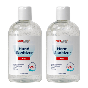 MedZone Hand Sanitizer Gel - 12 oz Disc Cap (2 pack) - MedZone - Because EveryBODY Hurts -Hand Sanitizers, Prevent Blisters, Chafing, Face Mask Irritation