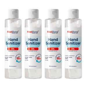 MedZone Hand Sanitizer Gel - 8 oz Flip Cap (4 Pack) - MedZone - Because EveryBODY Hurts -Hand Sanitizers, Prevent Blisters, Chafing, Face Mask Irritation