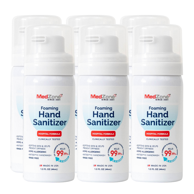 NEW! Hand Sanitizer Foam - 1.5 oz (6 Pack) - MedZone