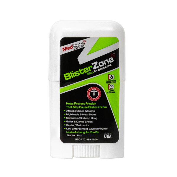BlisterZone Skin Protectant - Friction and Blister Prevention | .8 oz - MedZone - Because EveryBODY Hurts -Hand Sanitizers, Prevent Blisters, Chafing, Face Mask Irritation