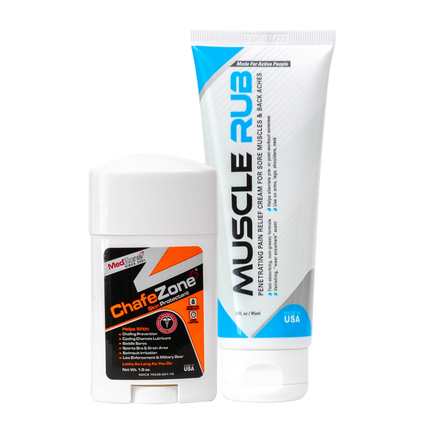 ChafeZone & Muscle Rub - Exclusive Offer for Free Topical Pain Reliever - MedZone - Because EveryBODY Hurts -Hand Sanitizers, Prevent Blisters, Chafing, Face Mask Irritation