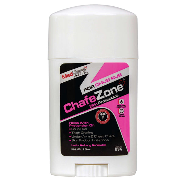 ChafeZone for Chub Rub - Anti Chafing Stick For Her - MedZone - Because EveryBODY Hurts -Hand Sanitizers, Prevent Blisters, Chafing, Face Mask Irritation