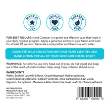 Load image into Gallery viewer, MedZone Hand Cleanser Soap - MedZone - Because EveryBODY Hurts -Hand Sanitizers, Prevent Blisters, Chafing, Face Mask Irritation