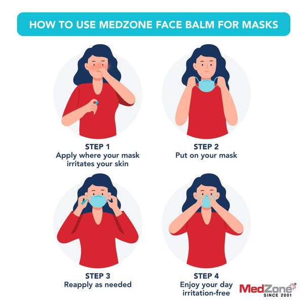 MedZone Face Balm for Masks Case Pack (24 units) - .15 oz - MedZone - Because EveryBODY Hurts -Hand Sanitizers, Prevent Blisters, Chafing, Face Mask Irritation