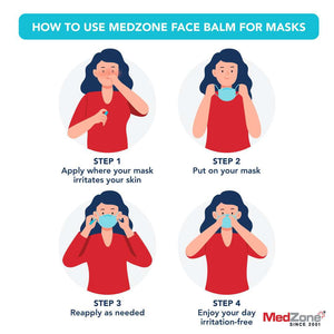 MedZone Face Balm | For Masks (3 Pack) - MedZone - Because EveryBODY Hurts -Hand Sanitizers, Prevent Blisters, Chafing, Face Mask Irritation