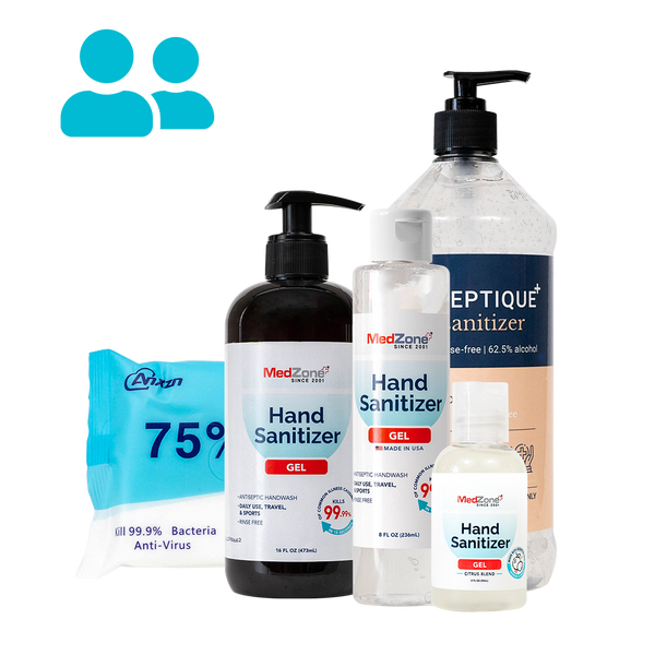 Small Business Bundle (1-25 employees) - MedZone - Because EveryBODY Hurts -Hand Sanitizers, Prevent Blisters, Chafing, Face Mask Irritation