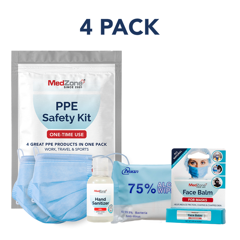 PPE Travel Kit - Individual Bundle (4 Pack) - MedZone