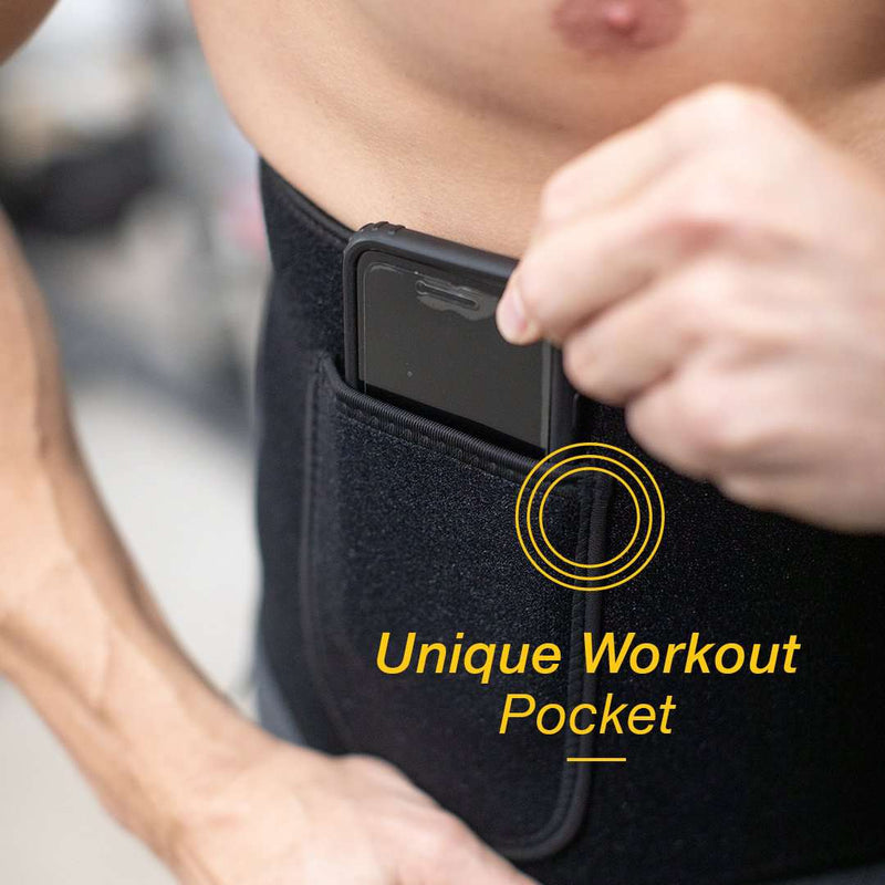 Waist Trimmer - Waist Trainer Workout Belt | SweatZone - MedZone - Because EveryBODY Hurts -Hand Sanitizers, Prevent Blisters, Chafing, Face Mask Irritation