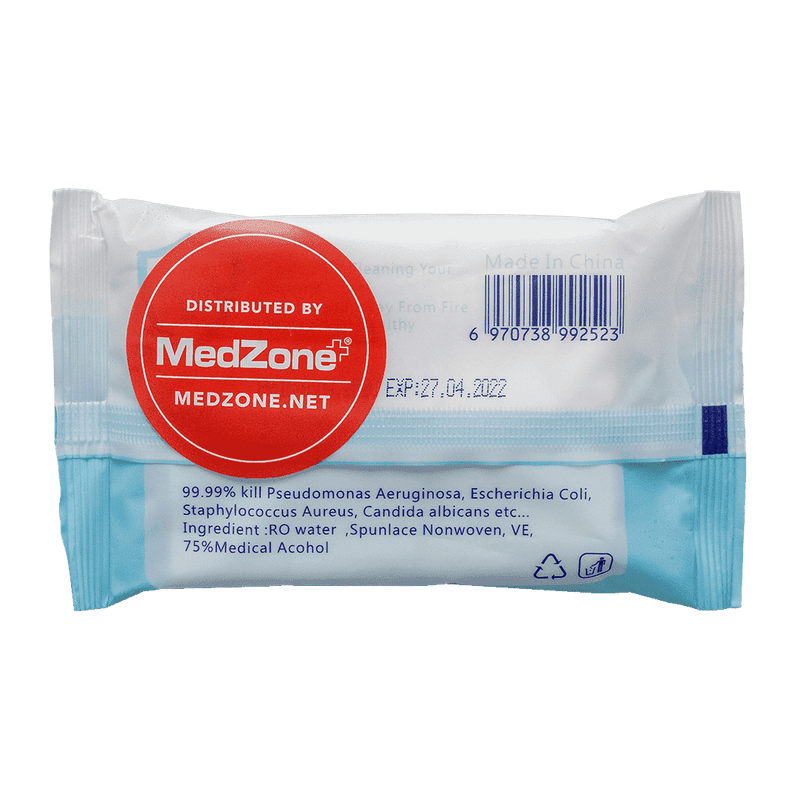 75% Alcohol Disinfectant Wipes (12 Packages) - MedZone - Because EveryBODY Hurts -Hand Sanitizers, Prevent Blisters, Chafing, Face Mask Irritation