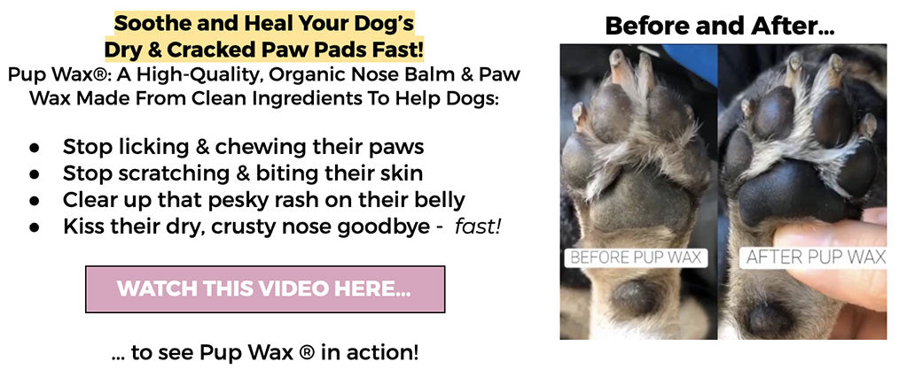 watch Pup Wax in action for dry paws skin and nose