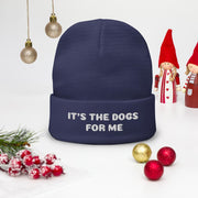 It's the Dogs for Me embroidered beanie hat - Pup Wax dog paw wax and dry dog nose balm