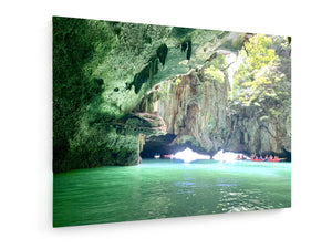 Poly Canvas Print - Caves