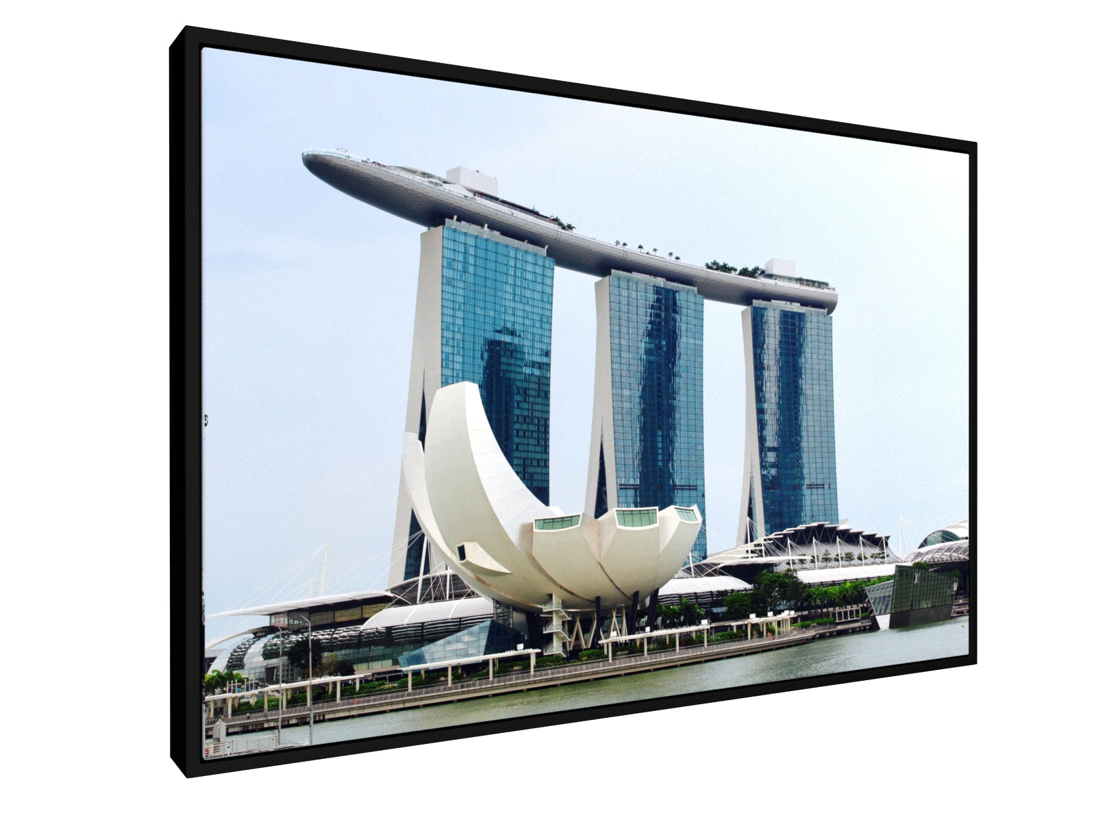 Stretched Canvas Classic - Float Frame - Singapore Skyline