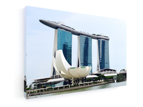 Stretched Canvas Classic – Premium - Singapore Skyline