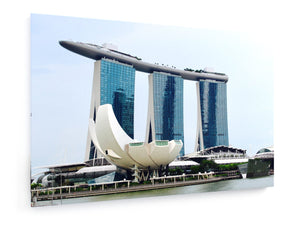 Poly Canvas Print - Singapore Skyline
