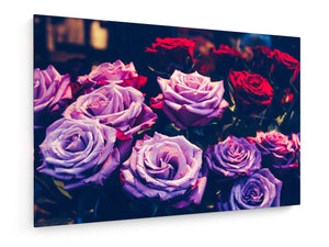 Stretched Canvas - Textile - Roses