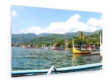 Load image into Gallery viewer, Stretched Canvas - Textile - Taal Lake