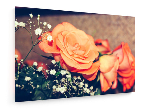Stretched Canvas - Textile - Flowers