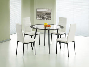 Acodia Dining Table Clear Glass & Black