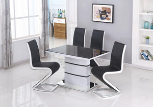 Aldridge Small High Gloss Dining Set