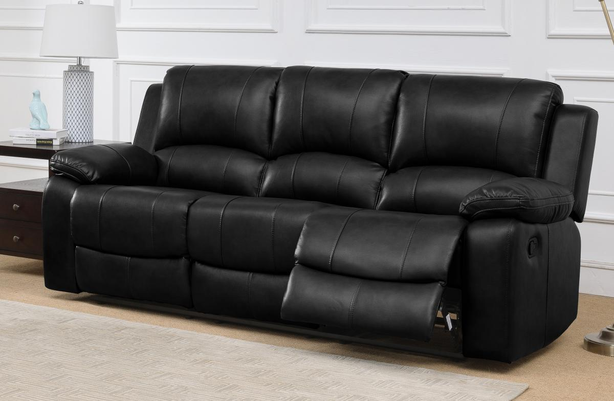Andalusia Recliner LeatherGel & PU 3 Seater