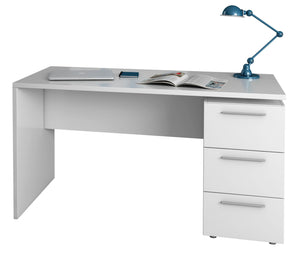 Arctic Desk 3 Drawer