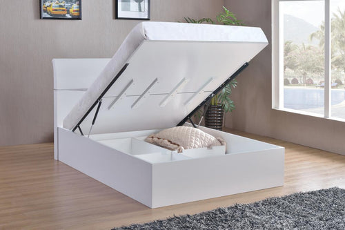Arden High Gloss Storage Bed Double